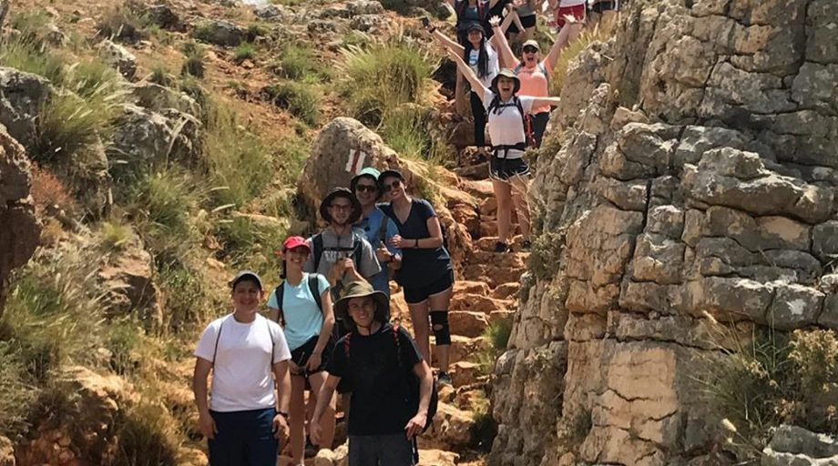 Students in Israel hiking