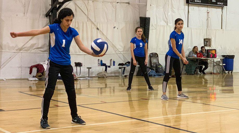 Spiking volleyball